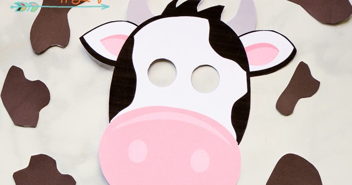 image about Free Printable Cow Mask called Absolutely free Printable Cow Mask and Places i must be mopping the