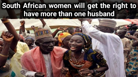 South African women will get the right to have more than one husband
