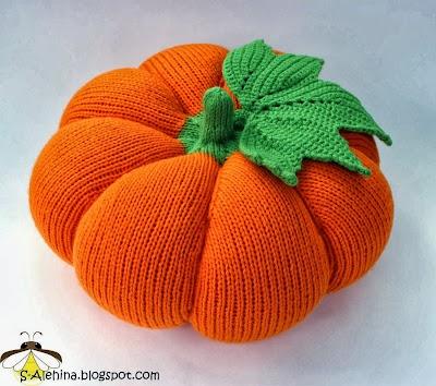 Calabaza de agujas circulares para Halloween