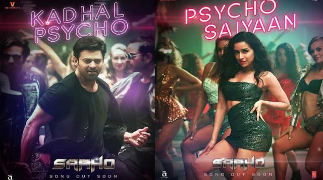 Psycho saiyaan, kaadhal saiyaan, Saaho, shraddha kapoor, prabhas