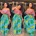 Off Shoulder Ankara Stylish Long Gown Styles For African Ladies