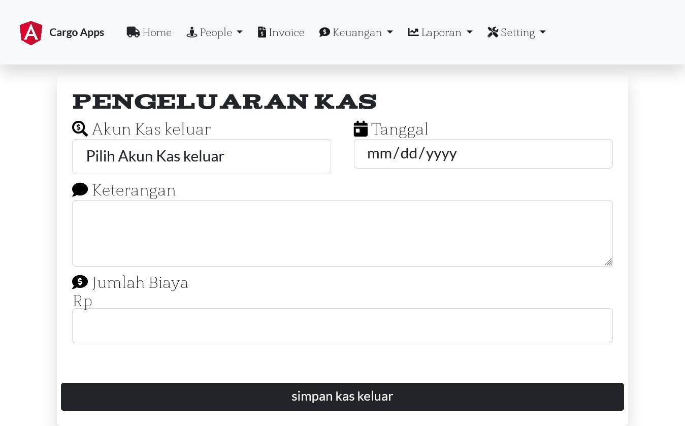 Aplikasi kargo ekspedisi pengiriman plus website kargo ekspedisi all in one