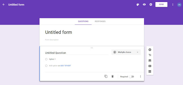 google forms page