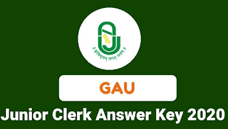 Gujarat Agricultural Universities Junior Clerk Provisional Answer Key