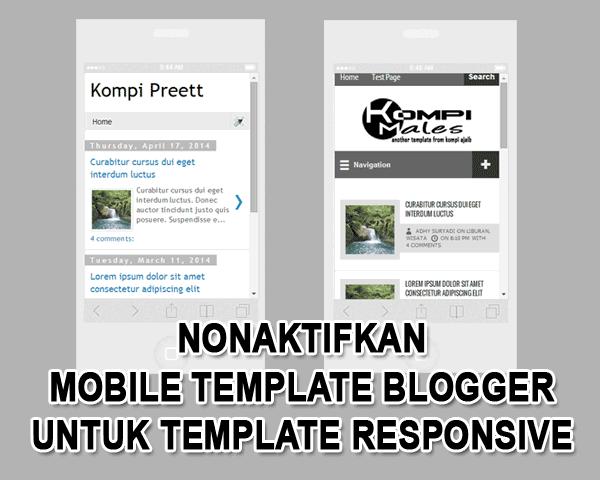 Mobile Template Blogger Untuk Blog Responsive