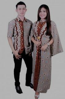 Model baju batik couple untuk pasangan pengantin muda