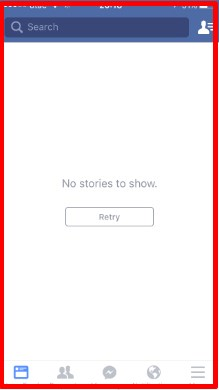 Facebook no stories to show