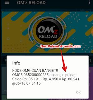 telkomsel OMG diproses OMz reload armaila