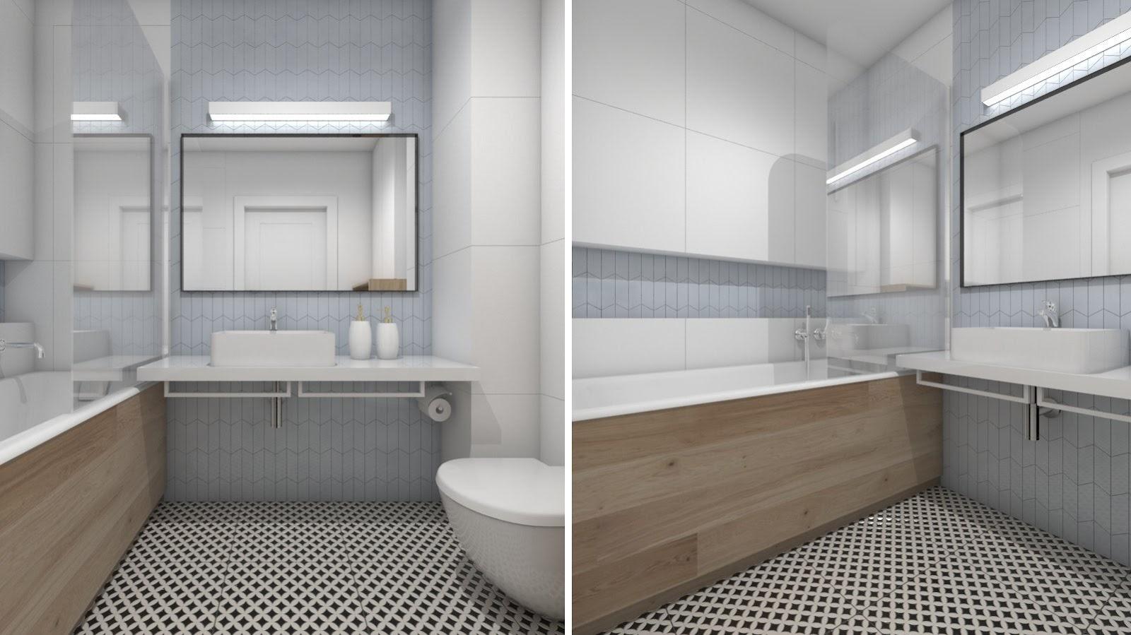 zasady w projektowaniu łazienki, projekt łazienki