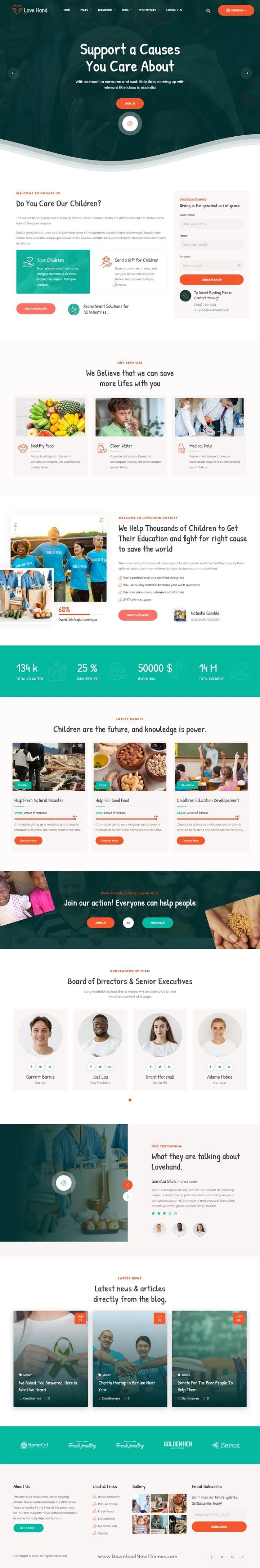 Charity Donation HubSpot Theme