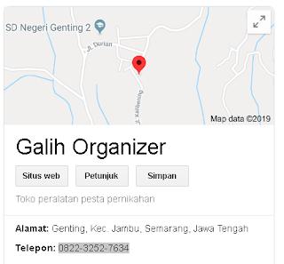 Alamat Galih Organizer