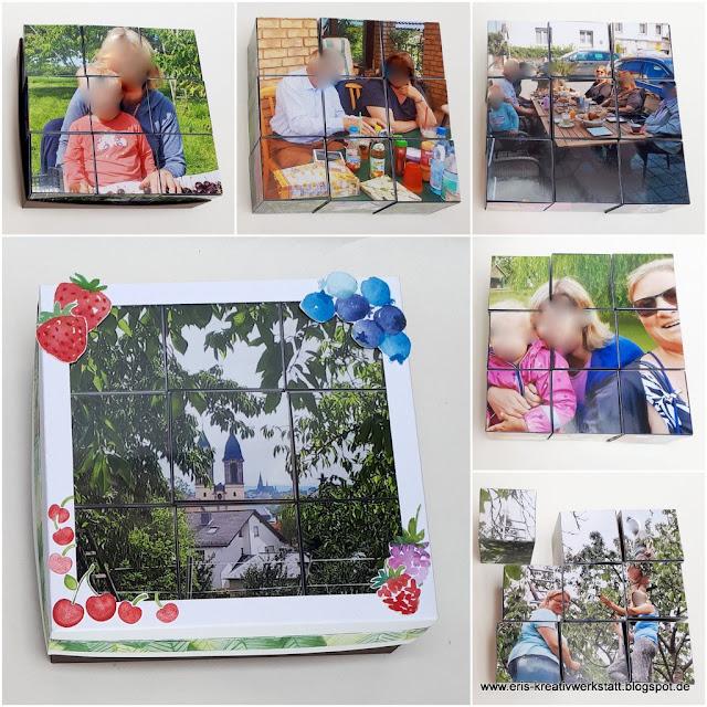 Foto-Puzzle als Geschenk für meinen Papa Stampin' Up! www.eris-kreativwerkstatt.blogspot.de