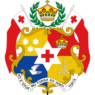 Coat of arms - Flags - Emblem - Logo Gambar Lambang, Simbol, Bendera Negara Tonga