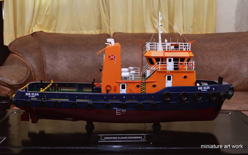 pembuat produsen miniatur kapal tugboat tb sse olga rumpun artwork planet kapal indonesia terpercaya