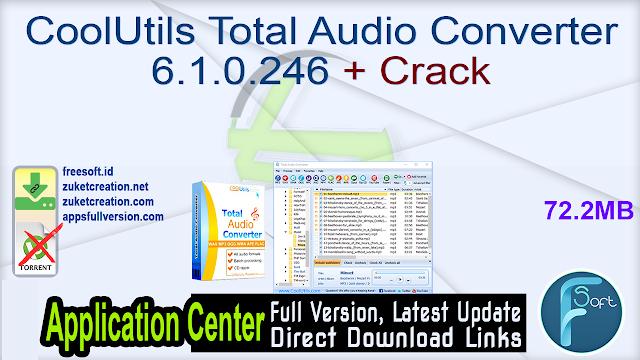 CoolUtils Total Audio Converter 6.1.0.246 + Crack