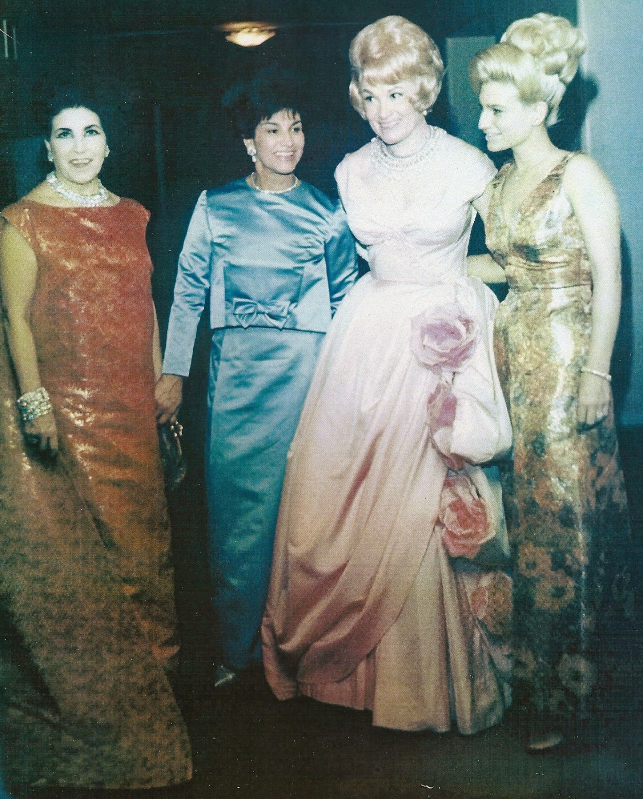 Karen and her mother, FLORENCE FELLER KRIENDLER, with sopranos LICIA ALBANESE and DOROTHY KIRSTEN at the Gala celebrating the final performance at the original Metropolitan Opera House on Broadway between 39th and 40th Streets