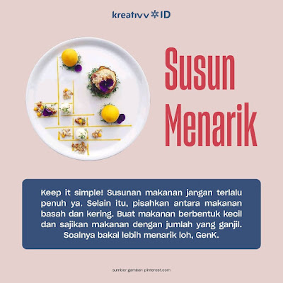 Tips Food Plating Susun Menarik