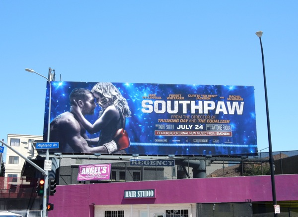 Southpaw movie billboard