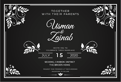 contoh undangan pernikahan dalam bahasa inggris formal