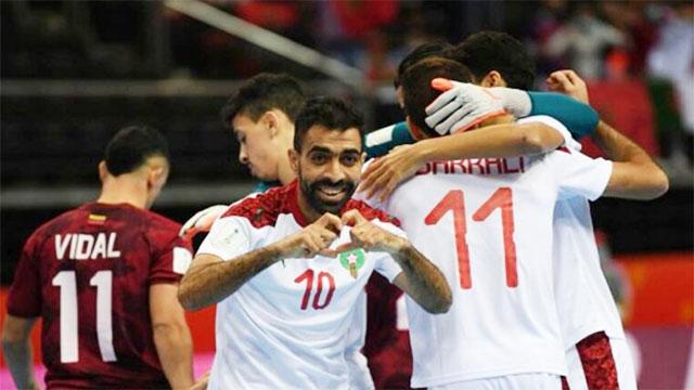تأهل المنتخب الوطني لكرة القدم داخل القاعة الى دور ربع النهائي كأس العالم