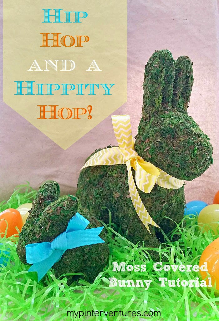 moss covered easter bunny
