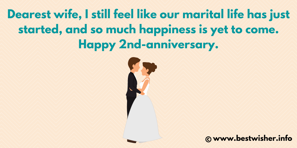 Second marriage anniversary wishes to wife
