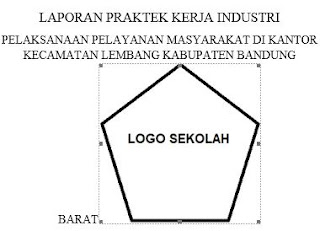 contoh pemasangan logo prakerin
