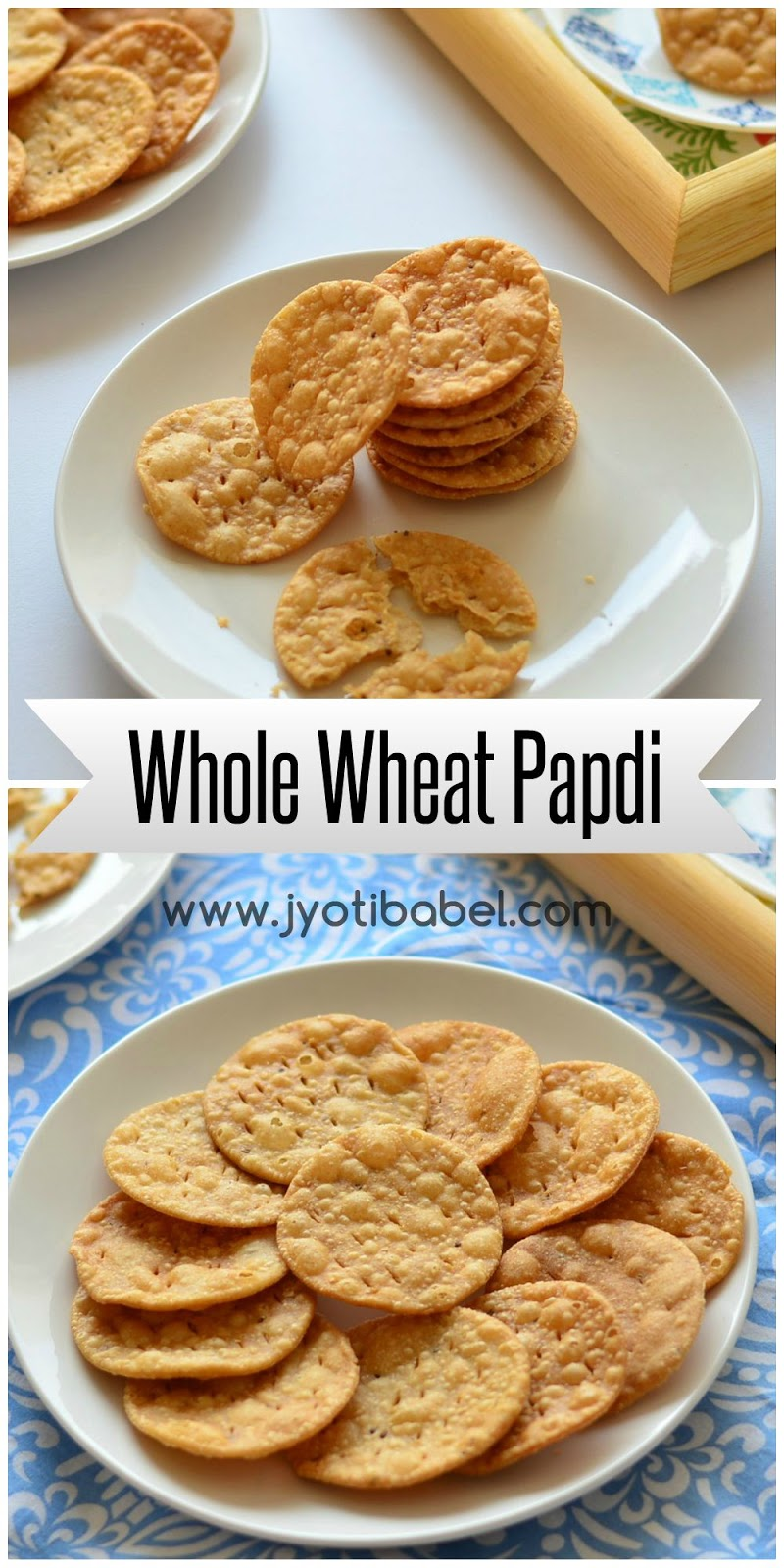 Jyoti's Pages: Whole Wheat Papdi (Fried) Recipe | How to