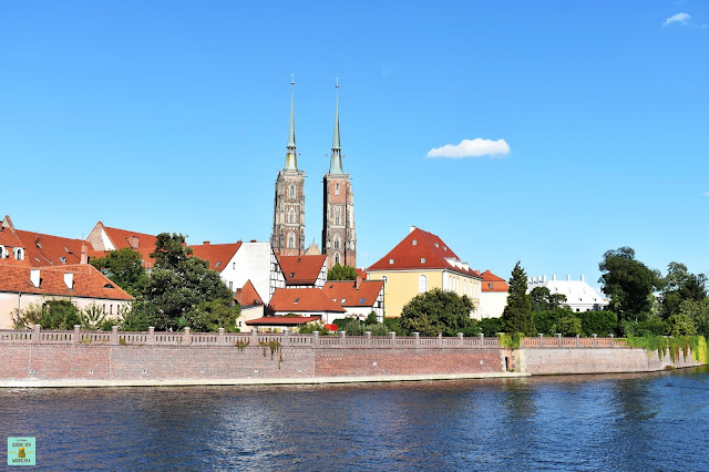 Río Óder en Wroclaw, Polonia