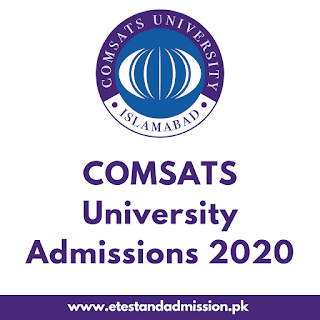 comsats university admissions 2020