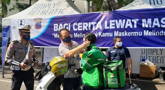 PT Inti Bagikan 1000 Masker Untuk Pengemudi Ojek
