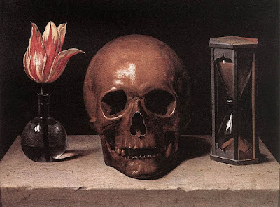 Still Life With a Skull, Vanitas Painting by Philippe de Champaigne