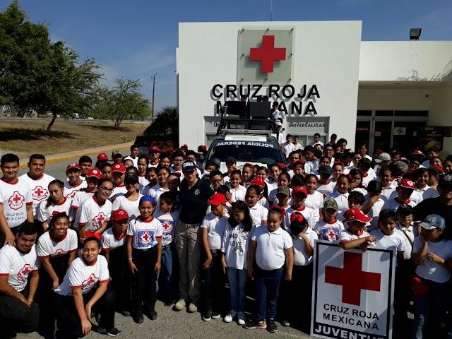 EN TAMAULIPAS,  POLICÍA  FEDERAL PARTICIPA EN CAPACITACIÓN DE VOLUNTARIOS DE LA CRUZ ROJA MEXICANA