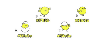 Alt 2 Q 13. Which of these color birds are different from the rest?