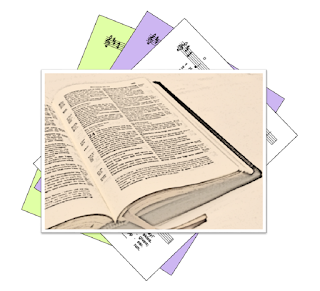 picture of bible over a generic hymns icon