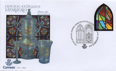 Sobre PDC del sello dedicado a oficios antiguos: vidriero