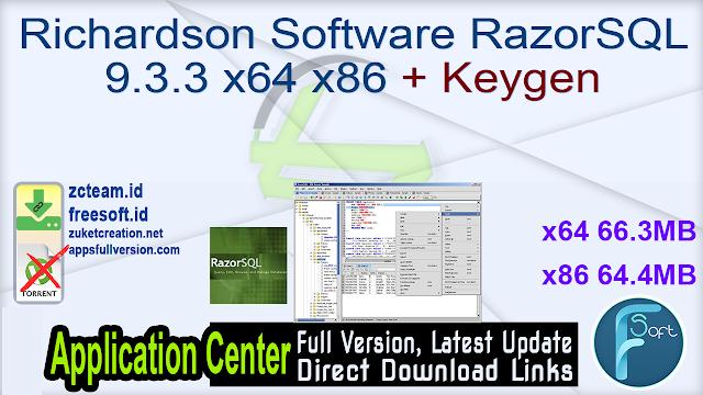 Richardson Software RazorSQL 9.3.3 x64 x86 + Keygen