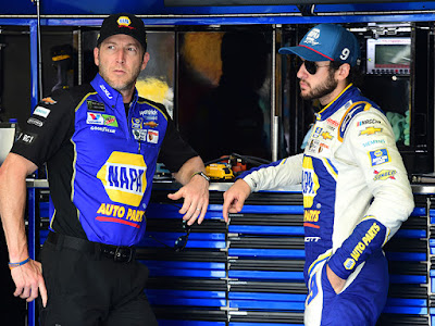 Chase Elliott and crew chief Alan Gustafson were fastest in final practice for Sunday's Monster Energy NASCAR Cup Series Bank of America ROVAL 400 at Charlotte Motor Speedway (102.101 mph).