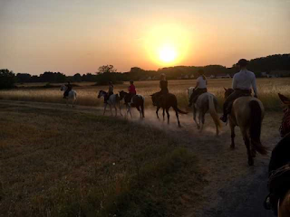 night ride in a riding holiday in Loire Valley