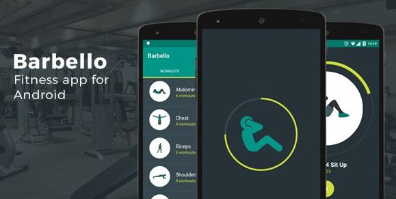 كود مصدر Barbello تطبيق لياقة بدنية لـ Android