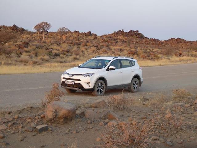 La nostra Toyota Rav4 in Namibia