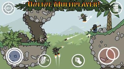 Free Download Doodle Army 2 Mod Apk v3.0.136 Mini Militia ( Paket Pro )