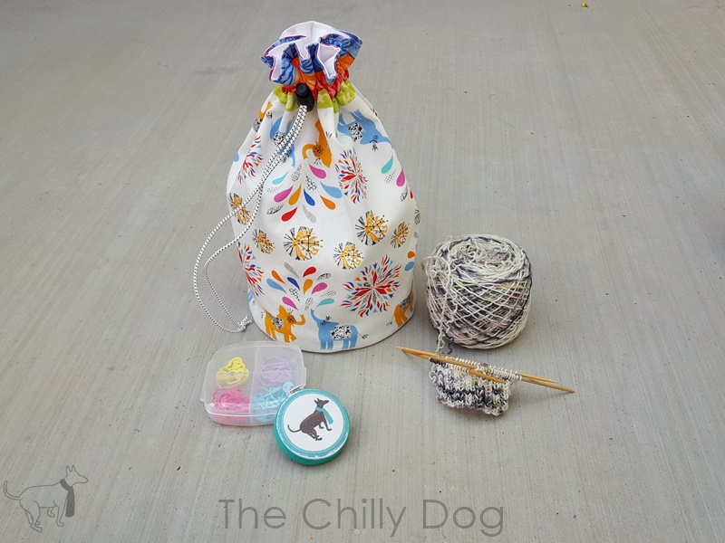 Small Project Tetra Knitting Bag Foxes