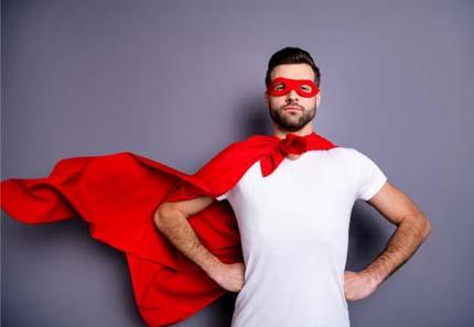Badut karakter superhero