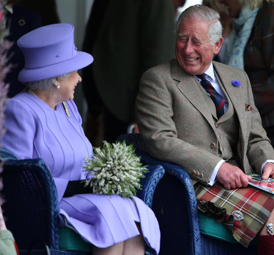 Photo from 70 years .. Queen Elizabeth celebrates the birthday of her son Charles, Prince of Wales