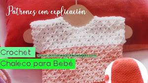 Patrones de Blusa y Short a Crochet para Bebé | Explicado paso a paso