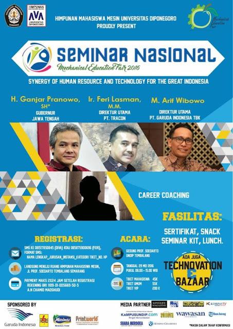 Seminar Nasional MEF HMM Undip 2016