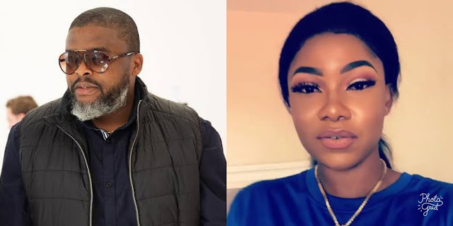 Larry Gaga places a kiss on the side of Tacha's head after they were entangled in a warm embrace (video)
