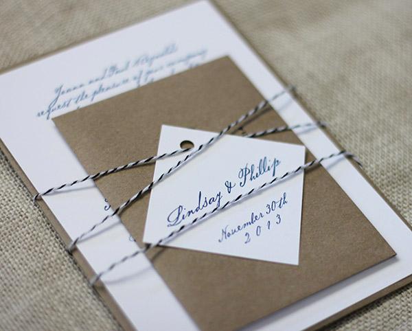 Clic Wedding Invitation Suite With Tag