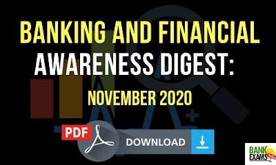 Banking and Financial Awareness Digest: November 2020